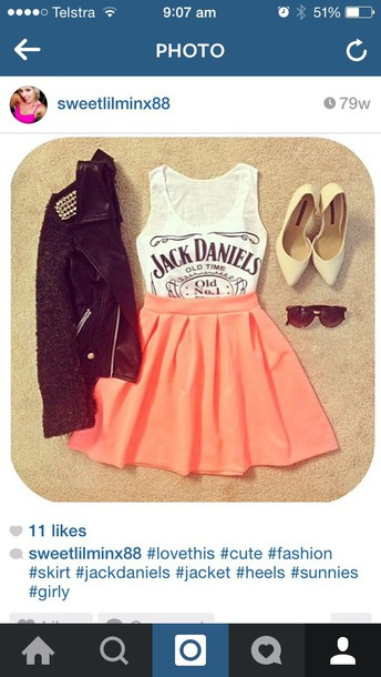 dress jack daniels top and skirtt