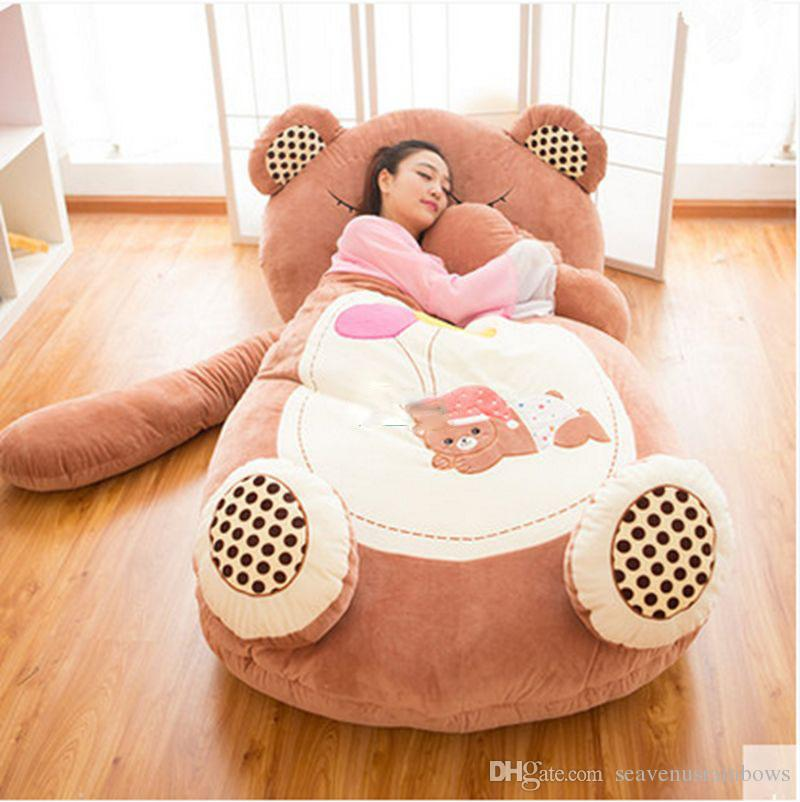 Online Cheap Giant Sleeping Bag Soft Plush Animal Beanbag