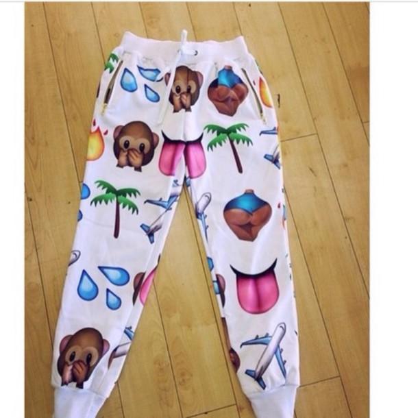 pants joggers joggers pants emoji pants