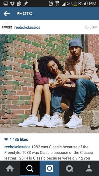 shoes reebok sneakers cute girly dope tumblr instagram urban swag