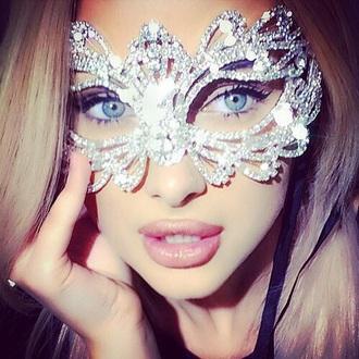 jewels masquerade rhinestones mask prom