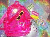 bag,pink,cyber,pvc,pink bag,backpack,tumb