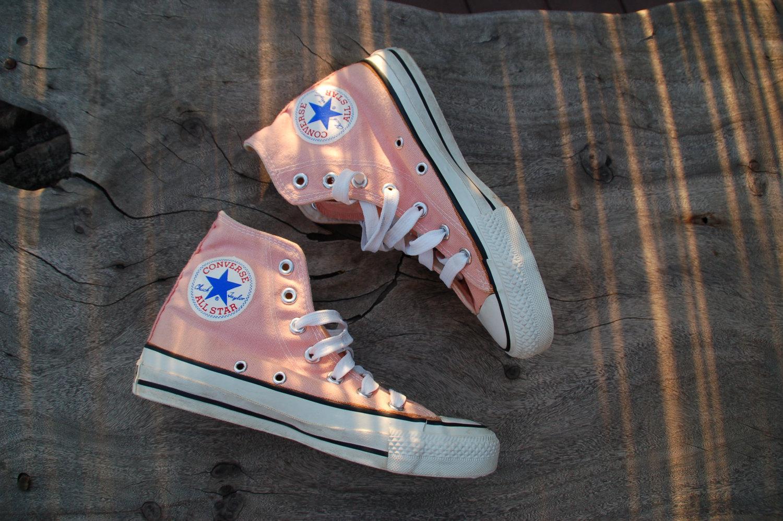 60056ee3d085 SALE Vintage Converse All Star Chucks Peach Coral Rare Color ...