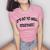 Let's Go To Hell Togerher Crop Tee
