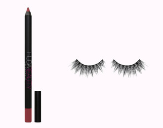 make-up lip liner lipstick eyelashes