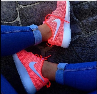 shoes nike shoes nike running shoes roshe runs orange shoes sportswear
