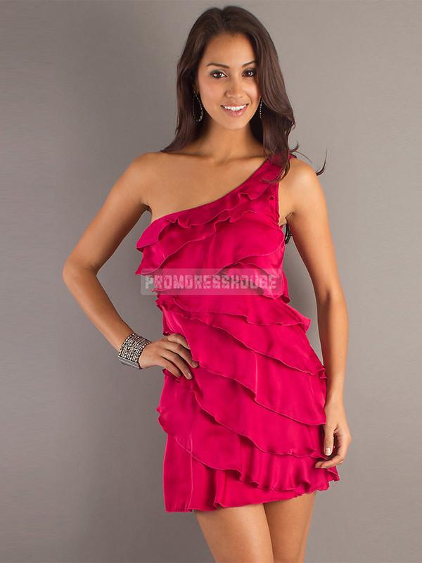 red dress fashion dress sexy dress girl chiffon prom dress