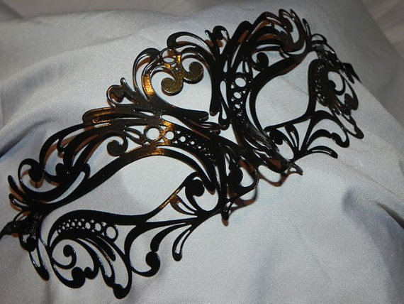 Carnival metallic masquerade mask by thecraftychemist07 on etsy