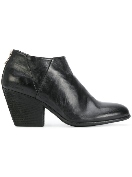 OFFICINE CREATIVE women leather black shoes