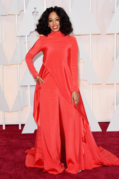 dress oscars 2015 gown red dress red carpet dress solange knowles