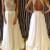 Charming Chiffon White Long Lace Prom Dresses,Evening Dresses - 24prom