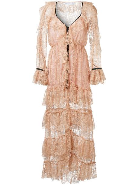 Alice McCall gown metallic women purple pink dress