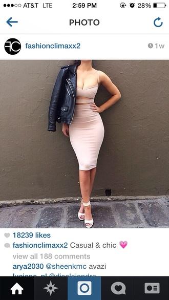 beige dress skirt top