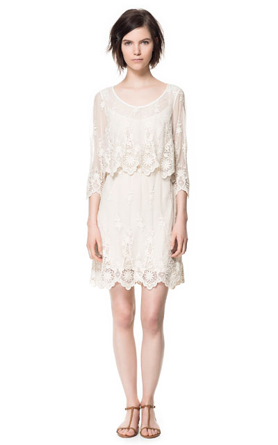 086b1e35 LACE DRESS - Dresses - Woman   ZARA Canada