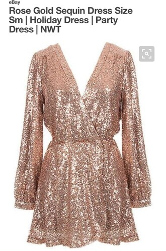 dress rose gold shop daily chic sequins wrap