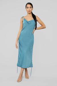 Come Pull My Strings Mini Dress - Blue