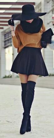 top,marron,fluide,blouse,shoes,bottes,velour,cuissardes