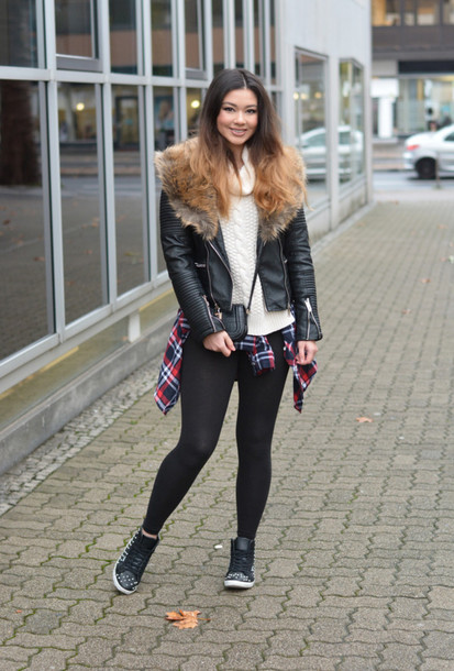 raspberry jam, blogger, faux fur jacket