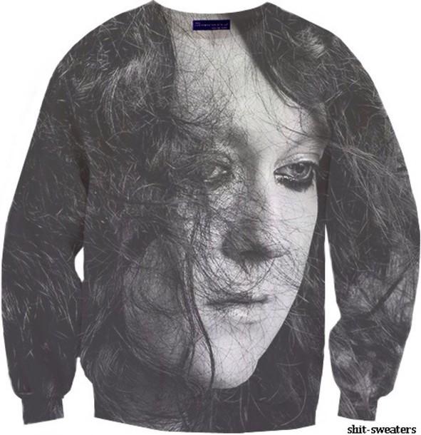 sweater antony black white grey b&w antony hegarty