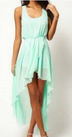 Low chiffon dress