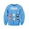 Trendy girls printed long sleeve round collar sweatshirt