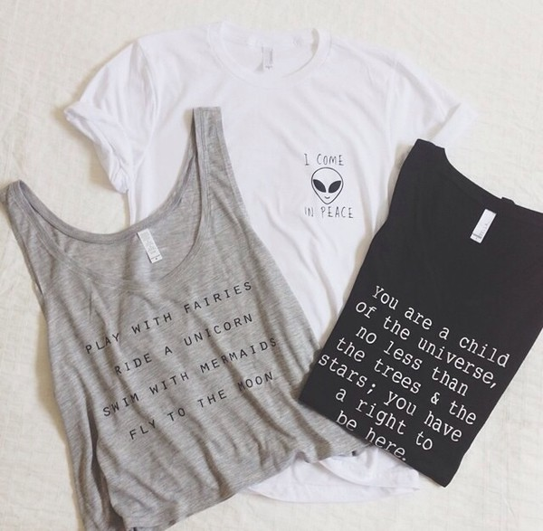 t-shirt t-shirt maxi shirt white black grey quote on it cute outfit clothes tank top