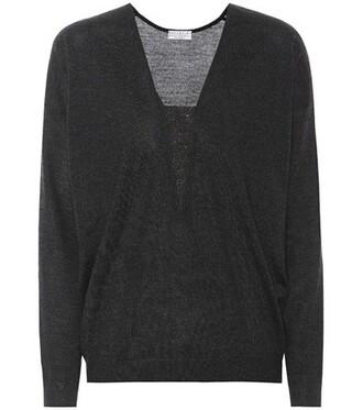 sweater silk grey