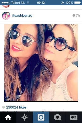 sunglasses shay mitchell white sunglasses