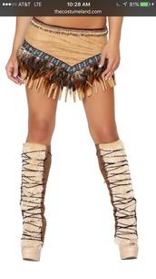 socks,leg warmers,halloween costume,costume,sexy halloween costume,native american,native inspired,fur,lace up