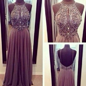 dress long dress long prom dress prom dress beige dress brown dress chiffon dress glitter dress glitter prom dress most beautiful dress ever