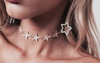jewels necklace stars jewelry choker necklace star necklace star choker