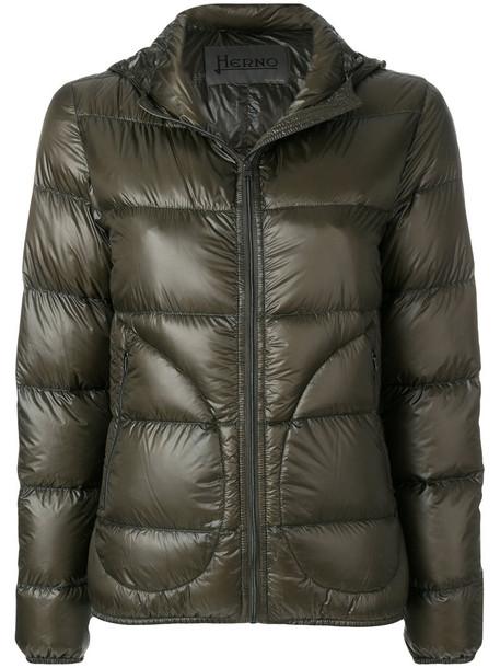 jacket puffer jacket women green