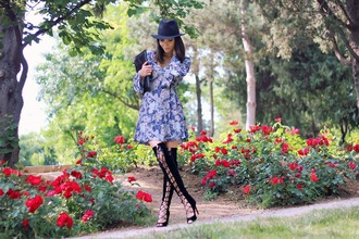 rana demir blogger dress hat long sleeve dress thigh high boots