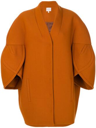 jacket women wool yellow orange