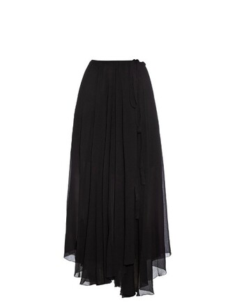 skirt wrap skirt black