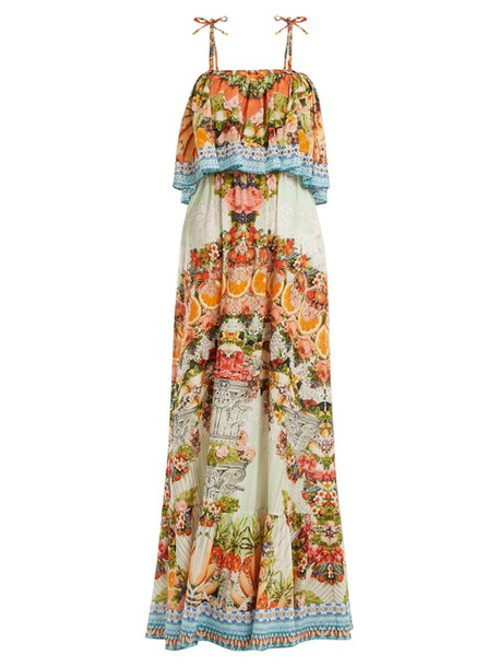 Camilla - Slice Of Paradise Maxi Dress - Womens - Orange Multi