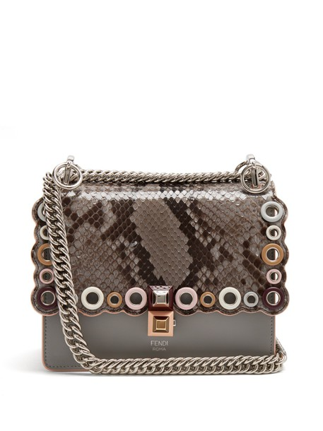 Fendi cross bag leather python
