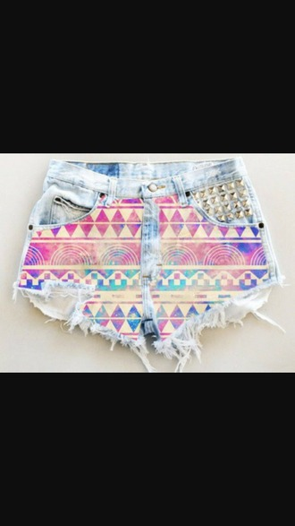shorts aztec shorts studded shorts acid washed shorts