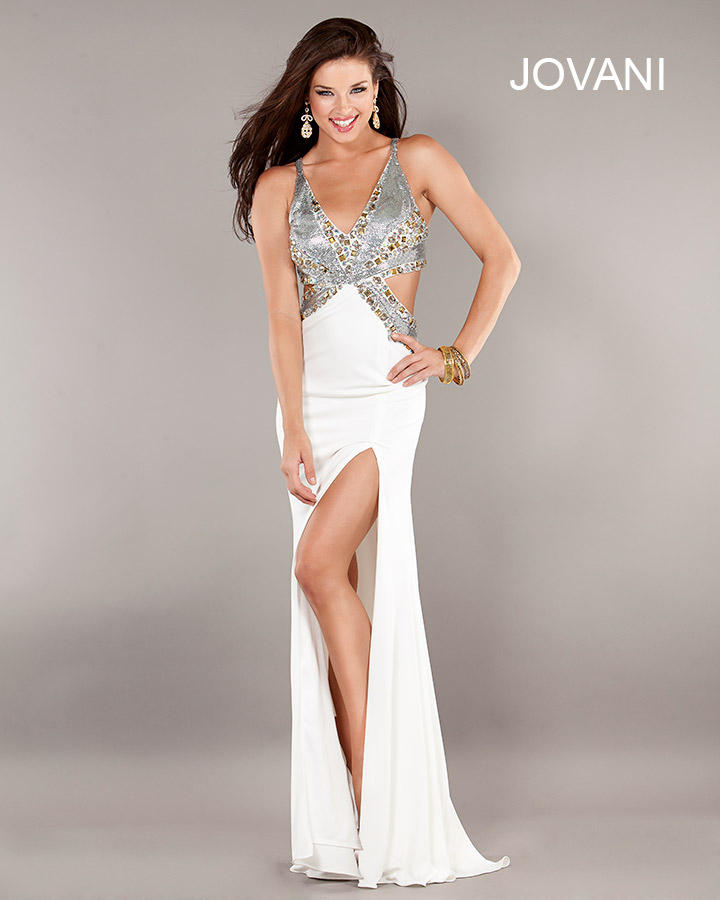 Jovani 1270 Cutout Gown with Open Back
