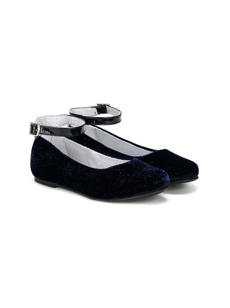 Stuart Weitzman Kids shoes leather blue velvet 24