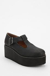 shoes,sixtyseven,petra,platform wedge,black,leather,flatforms,maryjane pump