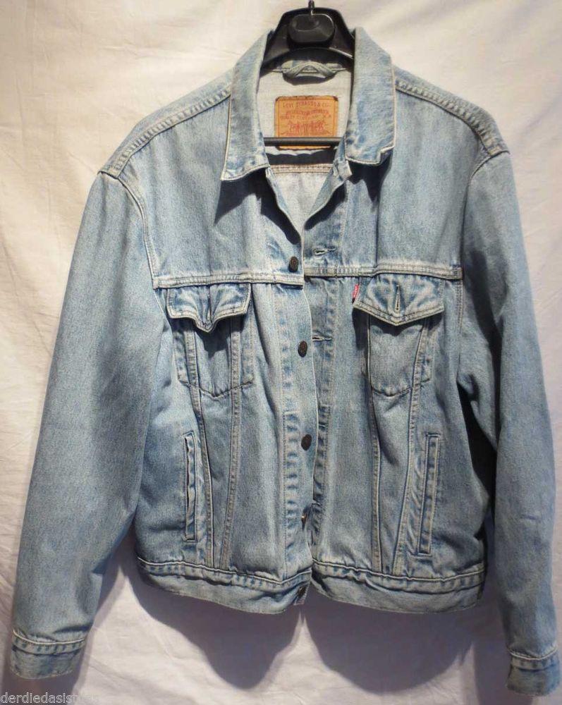 Levis Jeansjacke Wolle blau Vintage ausgewaschener Look 70503 02 Gr.XL Nr.17