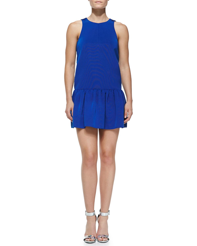Katia sleeveless flirty faille dress