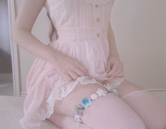 dress buttons kawaii sweet pale socks underwear girly pants shoes clothes flowers pink kawaii accessory knee high socks lace dress kawaii dress leggings garter white white dress pink dress japan japanese japanese fashion