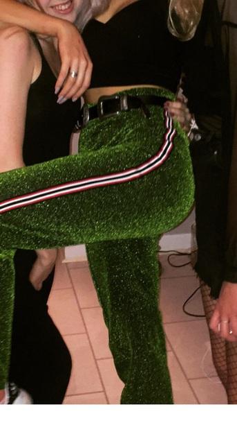 pants green sparkle