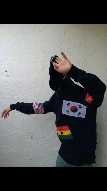 jacket sweater supreme dope american flag korean fashion beautiful cute nike mens hoodie urban menswear
