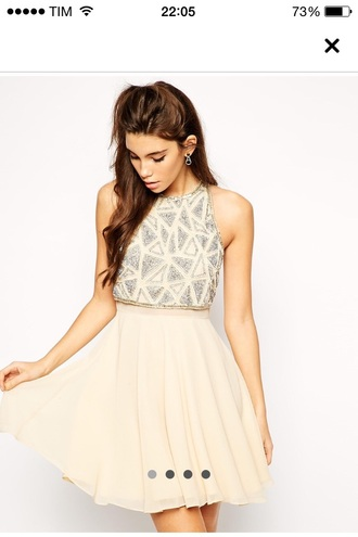 dress cream dress sparkly dress sparkle dress
