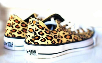 shoes leopard print all star converse