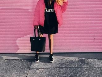 jacket puffy pink