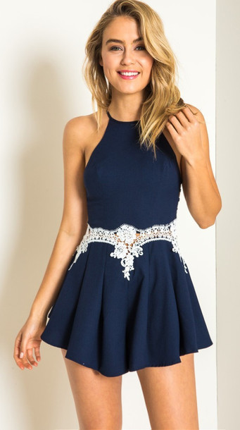 romper navy lace romper dress navy blue rompers sexy sexy rompers party  sexy dress chic girly